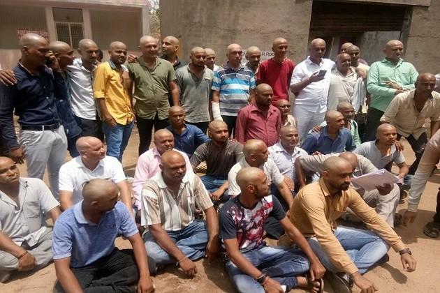 કેતન પટેલના મોતની ન્યાયિક તપાસની માંગ માટે 101પાટીદારોએ કરાવ્યું મુંડન